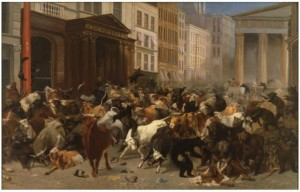 Bulls And Bears in the market, cover art for The Malign Hand of the Markets